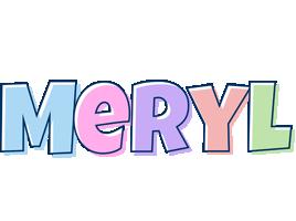 Meryl pastel logo