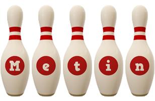 Metin bowling-pin logo