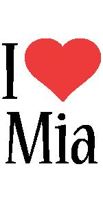 Mia i-love logo