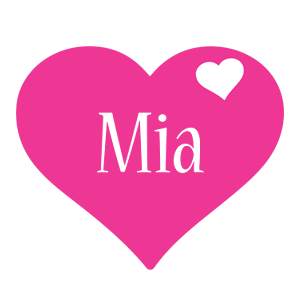 Mia love-heart logo