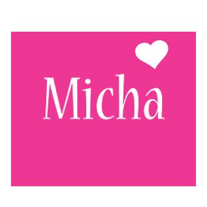 Micha love-heart logo