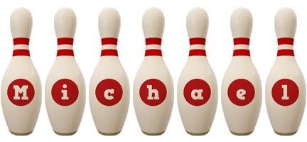 Michael bowling-pin logo