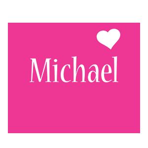 Michael love-heart logo