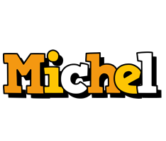 Michel cartoon logo