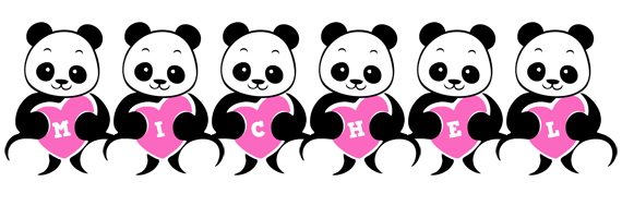 Michel love-panda logo