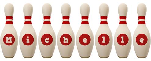 Michelle bowling-pin logo
