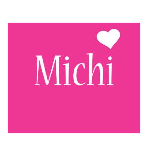 Michi love-heart logo
