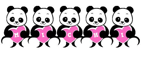 Michi love-panda logo