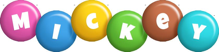 Mickey candy logo