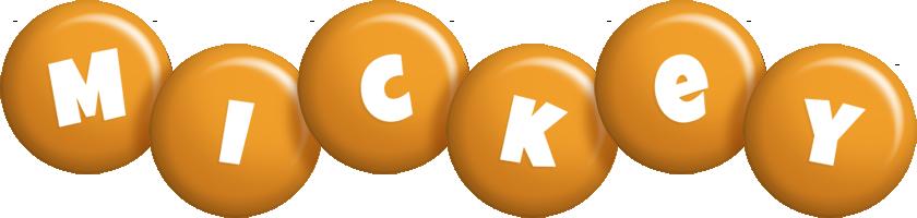Mickey candy-orange logo