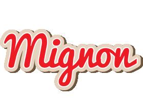 Mignon chocolate logo