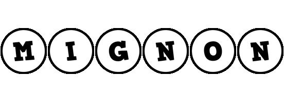 Mignon handy logo