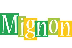 Mignon lemonade logo