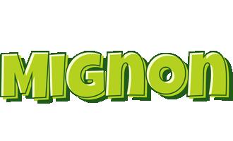 Mignon summer logo