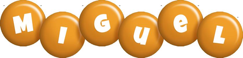 Miguel candy-orange logo