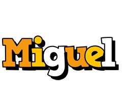 Miguel cartoon logo