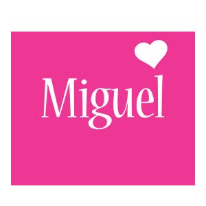 Miguel love-heart logo