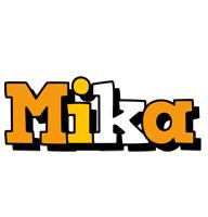 Mika cartoon logo