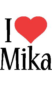 Mika i-love logo