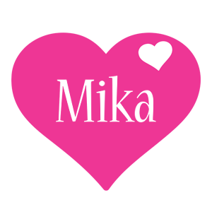 Mika love-heart logo