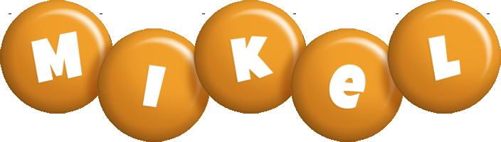 Mikel candy-orange logo