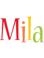 Mila birthday logo