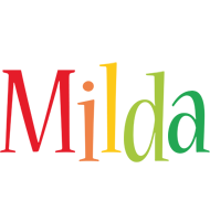 Milda birthday logo