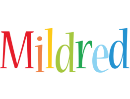 Mildred birthday logo