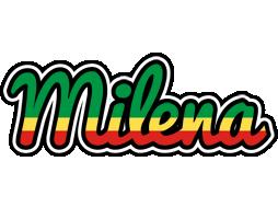 Milena african logo