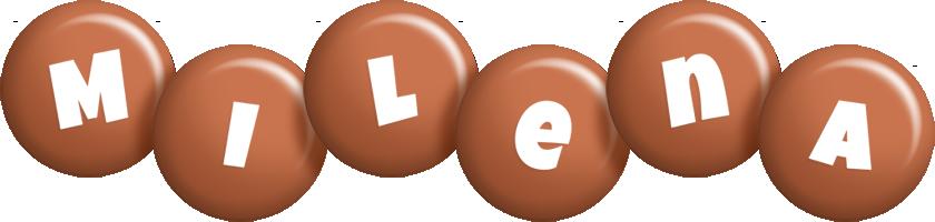 Milena candy-brown logo