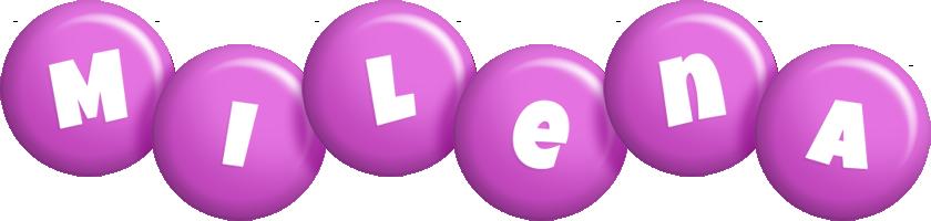 Milena candy-purple logo