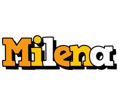 Milena cartoon logo