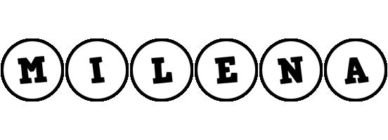 Milena handy logo