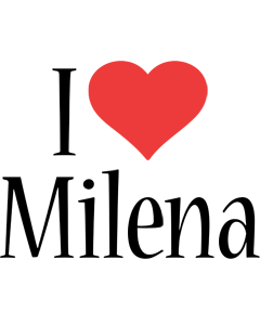 Milena i-love logo