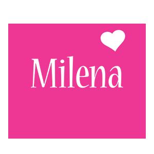 Milena love-heart logo