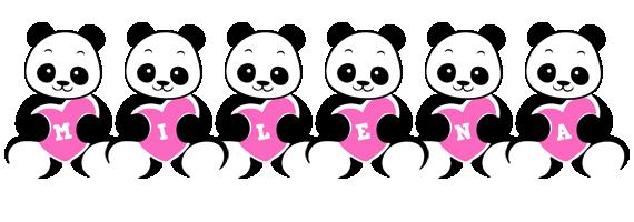 Milena love-panda logo