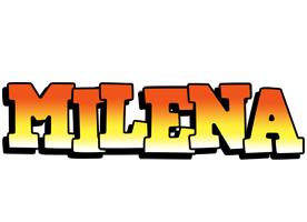 Milena sunset logo