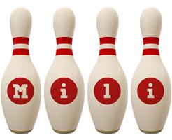 Mili bowling-pin logo