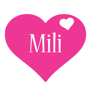 Mili love-heart logo