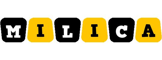 Milica boots logo