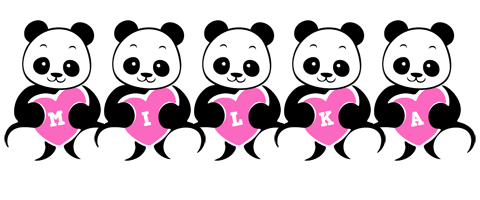 Milka love-panda logo