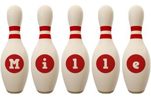 Mille bowling-pin logo