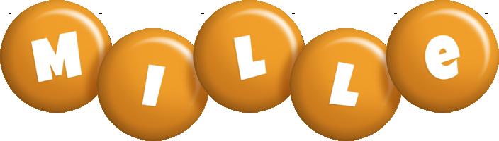 Mille candy-orange logo