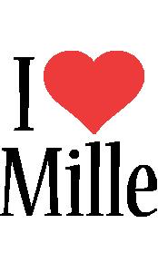Mille i-love logo