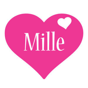 Mille love-heart logo