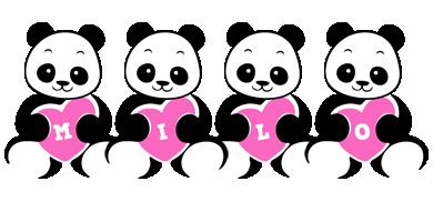 Milo love-panda logo