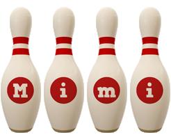 Mimi bowling-pin logo