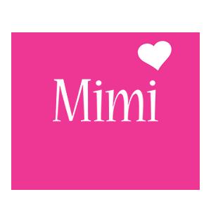 Mimi Logo Name Logo Generator I Love Love Heart