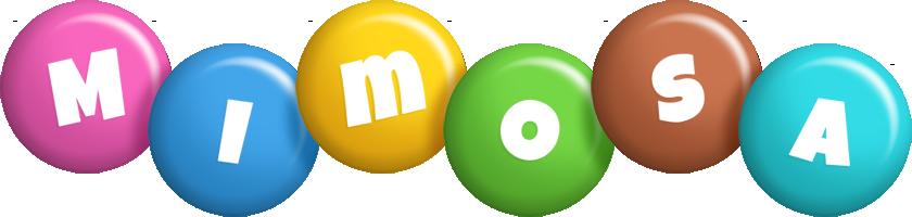 Mimosa candy logo