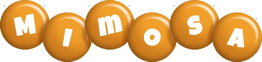 Mimosa candy-orange logo